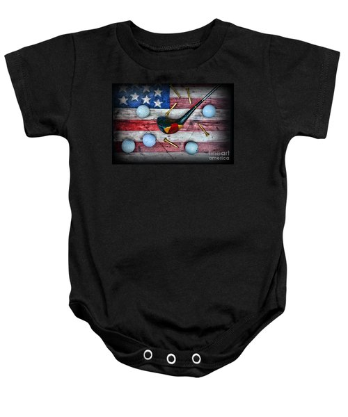 The All American Golfer Baby Onesie by Paul Ward
