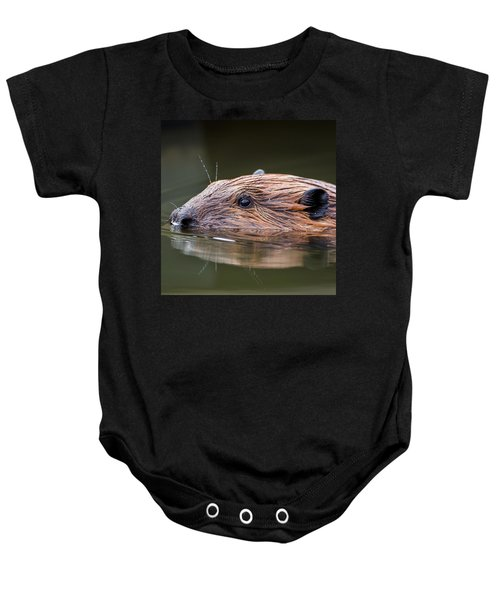 The Beaver Square Baby Onesie by Bill Wakeley