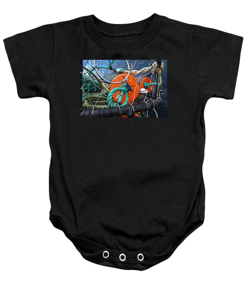 Crab Ring Baby Onesie