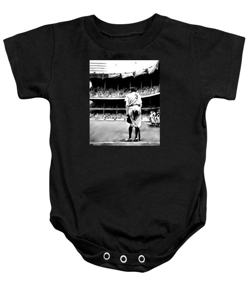 The Greatest Of All  Babe Ruth Baby Onesie by Iconic Images Art Gallery David Pucciarelli