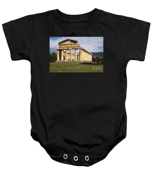 The Greek Temple Of Athena Baby Onesie