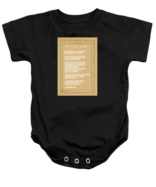 The Guest House Poem By Rumi Baby Onesie