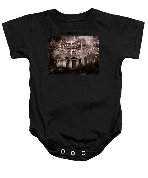 Baby Onesie featuring the photograph The Haunting by David Dehner