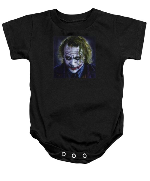 The Joker Baby Onesie by Tim  Scoggins