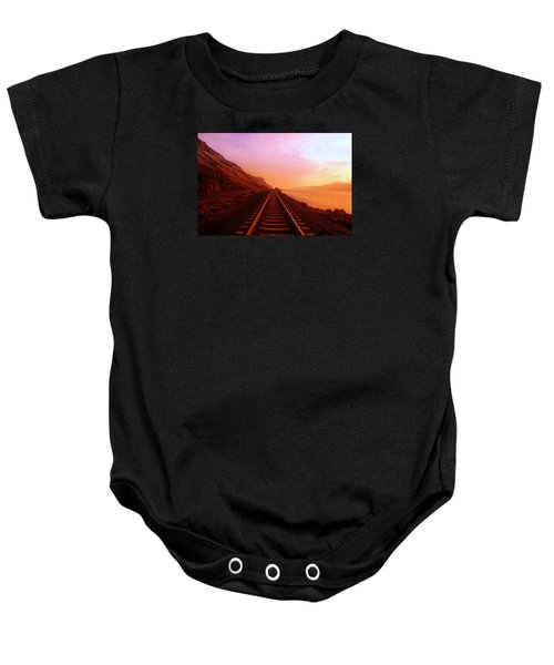 The Long Walk To No Where  Baby Onesie