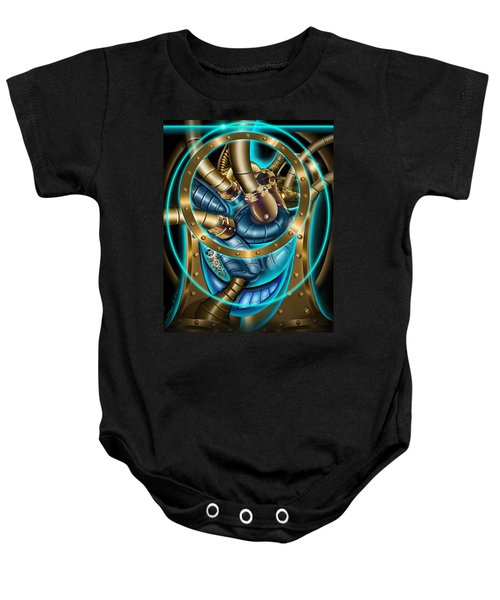 The Mechanical Heart Baby Onesie
