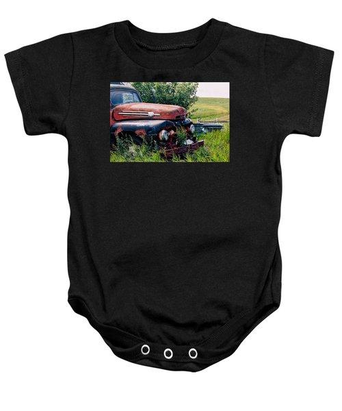The Old Farm Truck Baby Onesie