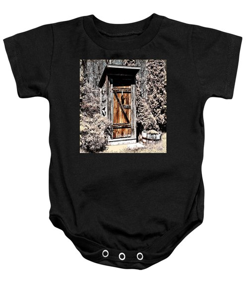 The Outhouse Baby Onesie