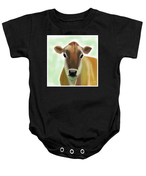The Pretty Jersey Cow  Baby Onesie