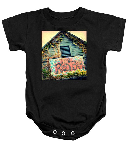 The Red Bar Baby Onesie by Toni Abdnour