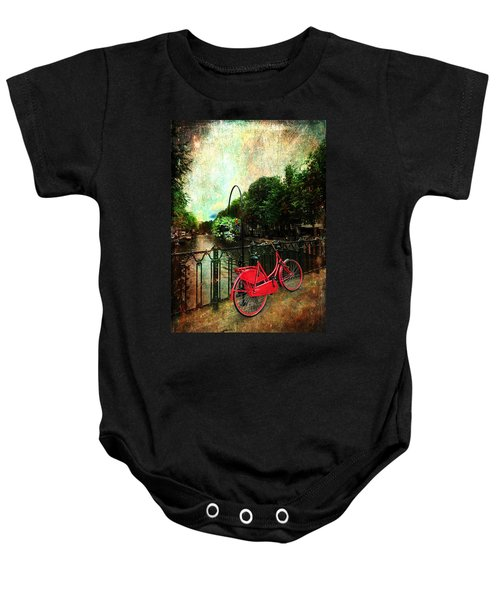 The Red Bicycle Baby Onesie