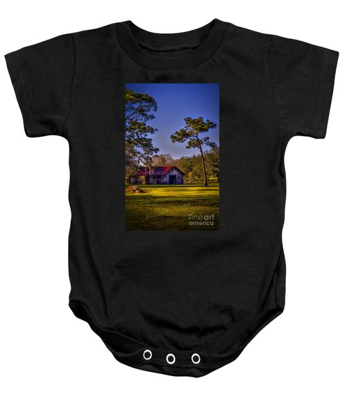 The Red Roof Barn Baby Onesie