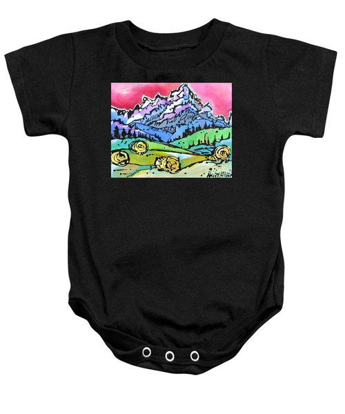 The Tetons From Walton Ranch Baby Onesie
