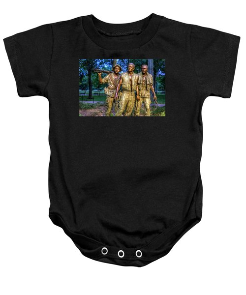 The Three Soldiers Facing The Wall Baby Onesie