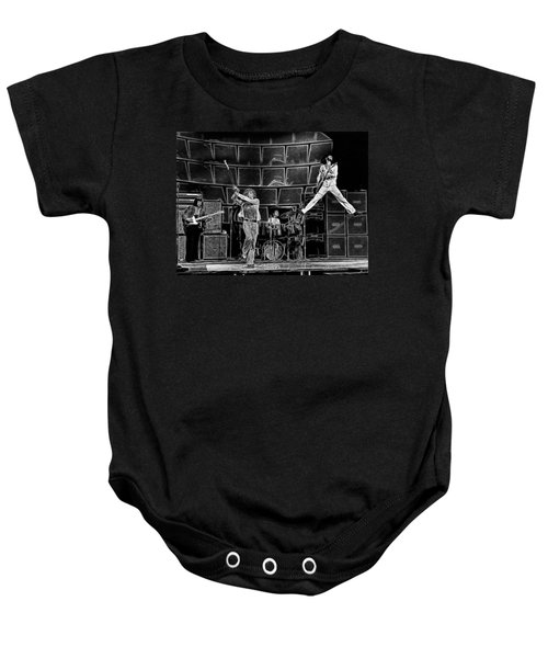 The Who - A Pencil Study - Designed By Doc Braham Baby Onesie
