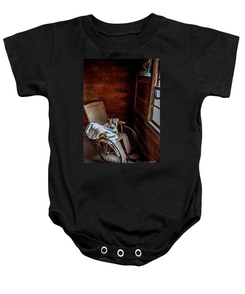 Wheelchair With A View Baby Onesie