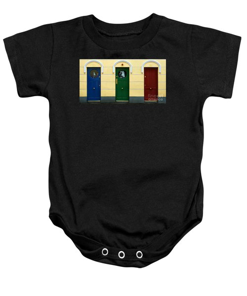 Three Doors Baby Onesie