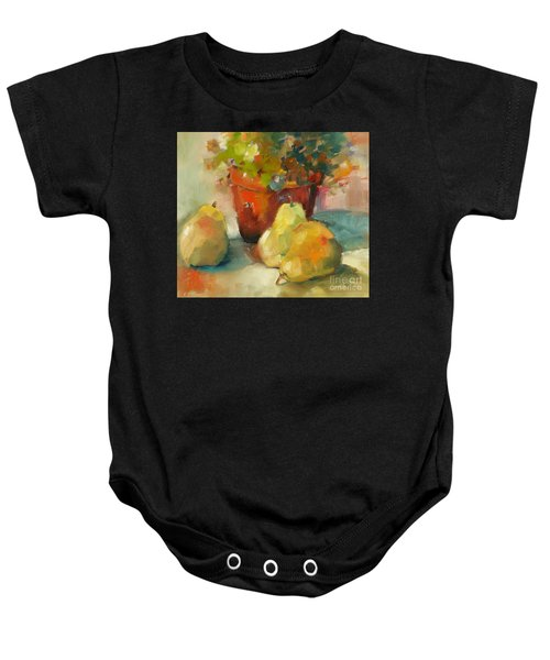 Three Pears And A Pot Baby Onesie