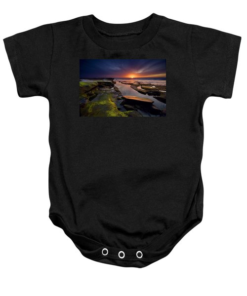 Tidepool Sunsets Baby Onesie