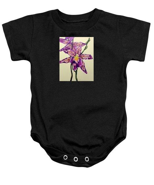 Tiger Orchid Baby Onesie