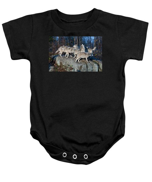 Timber Wolf Pack Baby Onesie