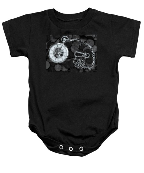 Time And Money Baby Onesie