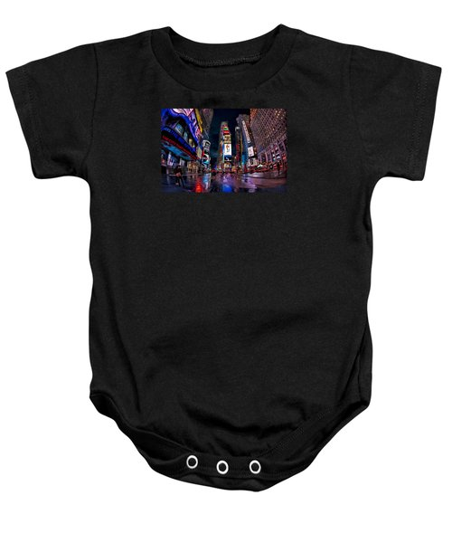 Times Square New York City The City That Never Sleeps Baby Onesie