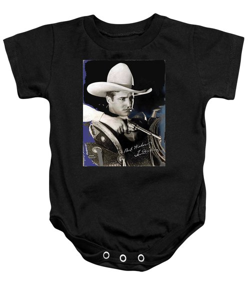 Tom Mix Portrait Melbourne Spurr Hollywood California C.1925-2013 Baby Onesie