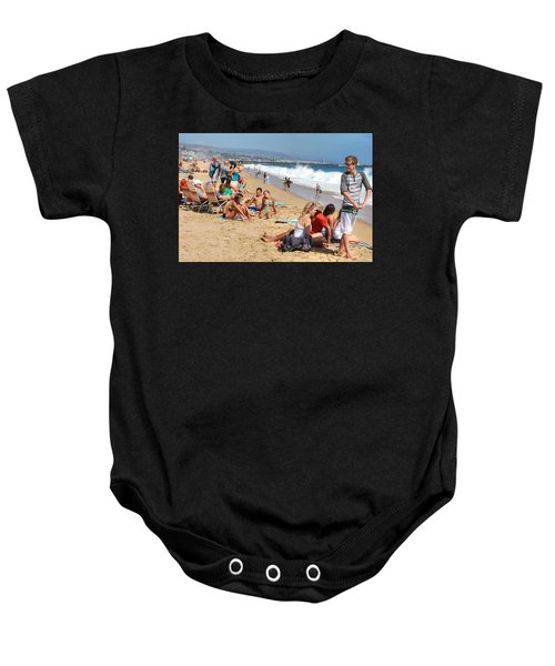 Tourist At Beach Baby Onesie