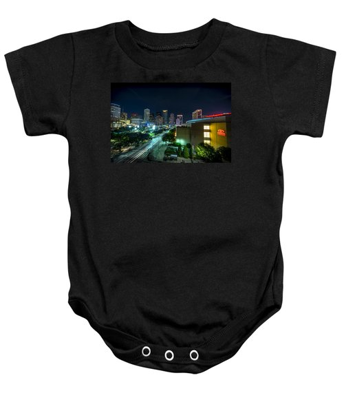 Toyota Center And Downtown Houston Baby Onesie