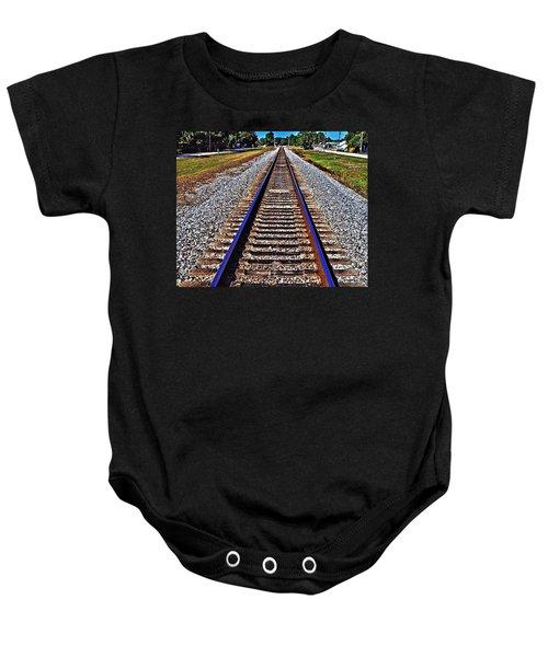 Tracks To Somewhere Baby Onesie