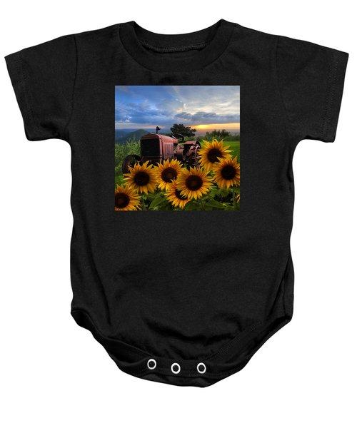 Tractor Heaven Baby Onesie