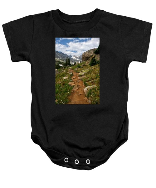 Trail To Lake Isabelle Baby Onesie
