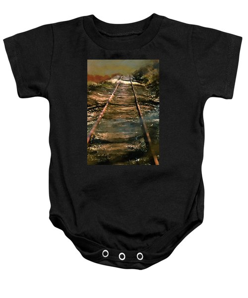 Train Track To Hell Baby Onesie