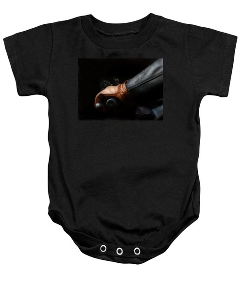 Leather Goes For A Ride Baby Onesie