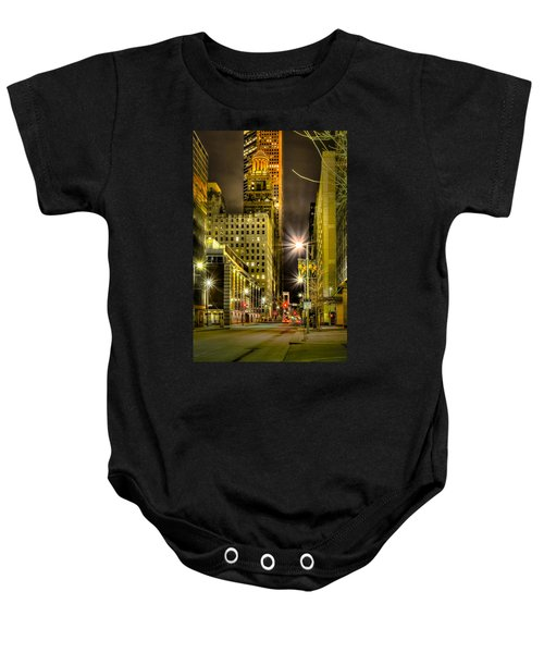 Travis And Lamar Street At Night Baby Onesie