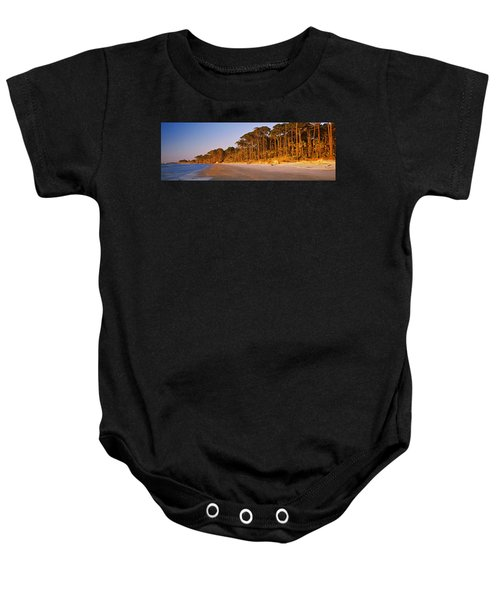 Trees Along The Shoreline, Hunting Baby Onesie