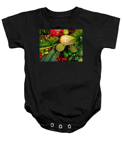 Tropical Fruits Baby Onesie by Carey Chen