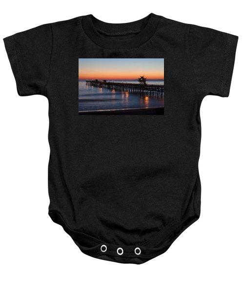 Twilight San Clemente Pier Baby Onesie
