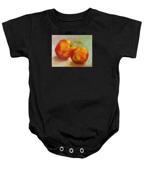 Two Peaches Baby Onesie