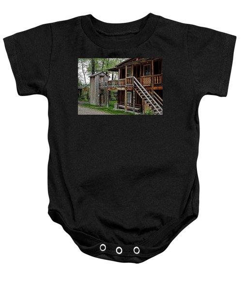 Two Story Outhouse - Nevada City Montana Baby Onesie