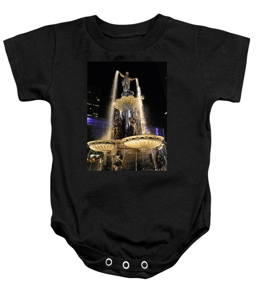 Fx9u-1250 Tyler Davidson Fountain Photo Baby Onesie