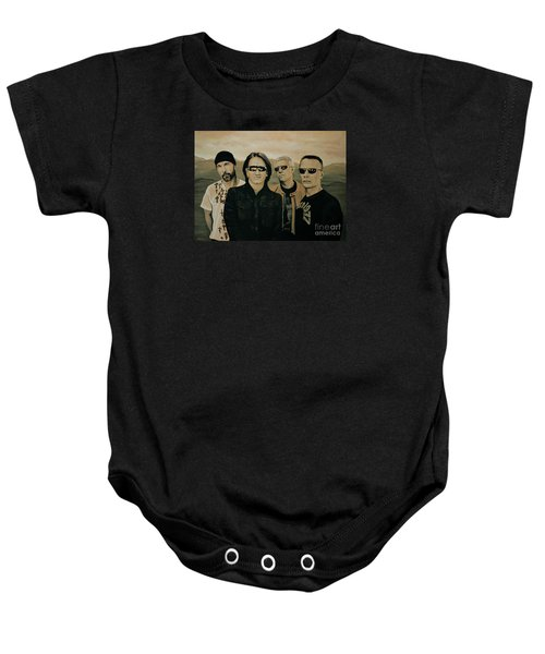U2 Silver And Gold Baby Onesie