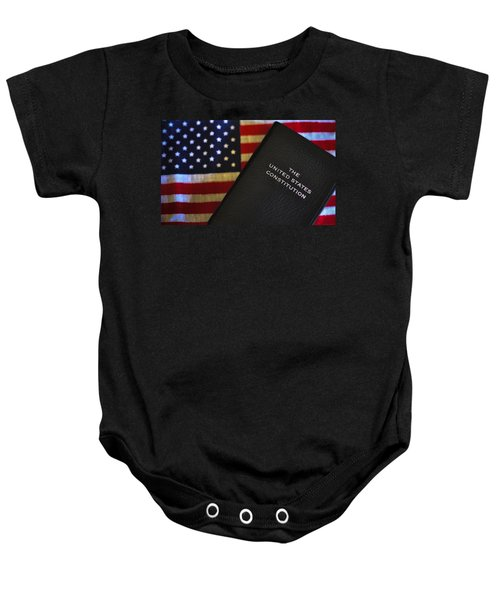 United States Constitution And Flag Baby Onesie
