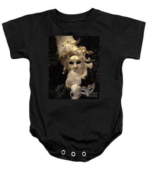 Baby Onesie featuring the photograph Venetian Face Mask B by Heiko Koehrer-Wagner