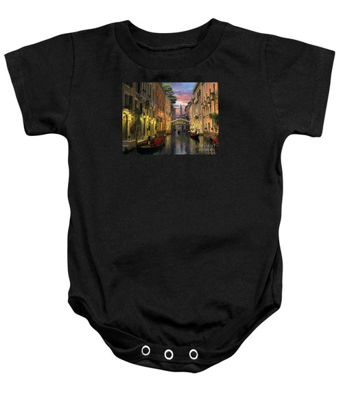 Venice At Dusk Baby Onesie by Dominic Davison