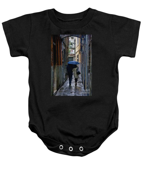 Venice In The Rain Baby Onesie