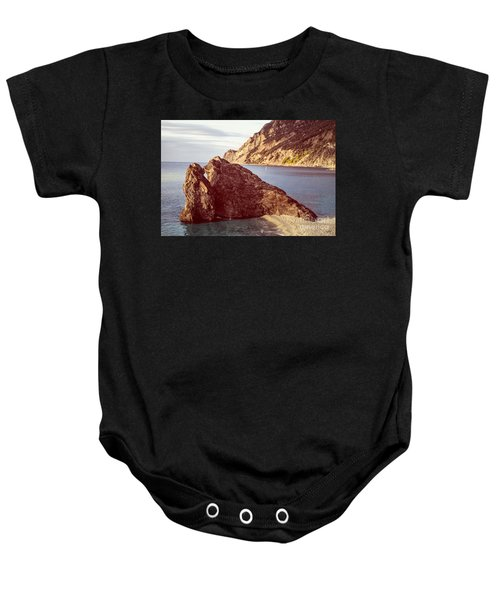 View From Beach Of Monterosso Baby Onesie