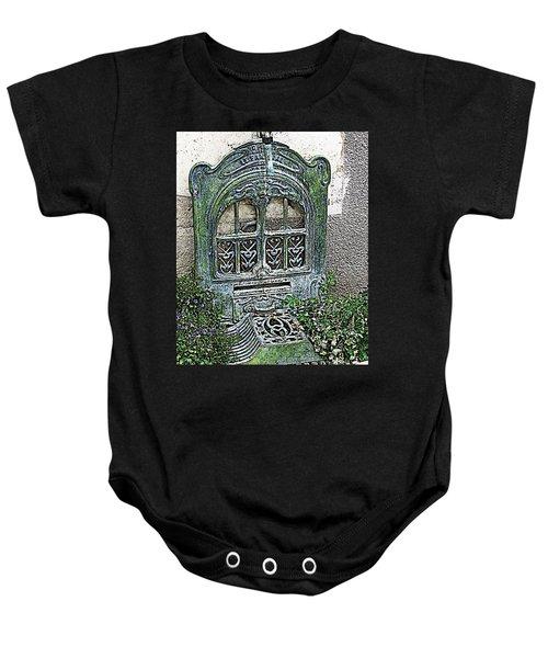 Vintage Garden Grate Baby Onesie