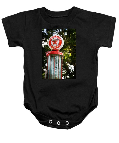 Baby Onesie featuring the photograph Vintage Texaco Gas Pump by Renee Hong